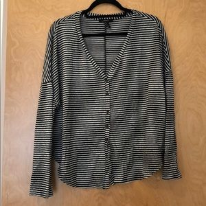 Forever21 button down striped soft shirt